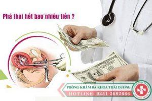 Giá 1 ca phá thai bao nhiêu tiền?